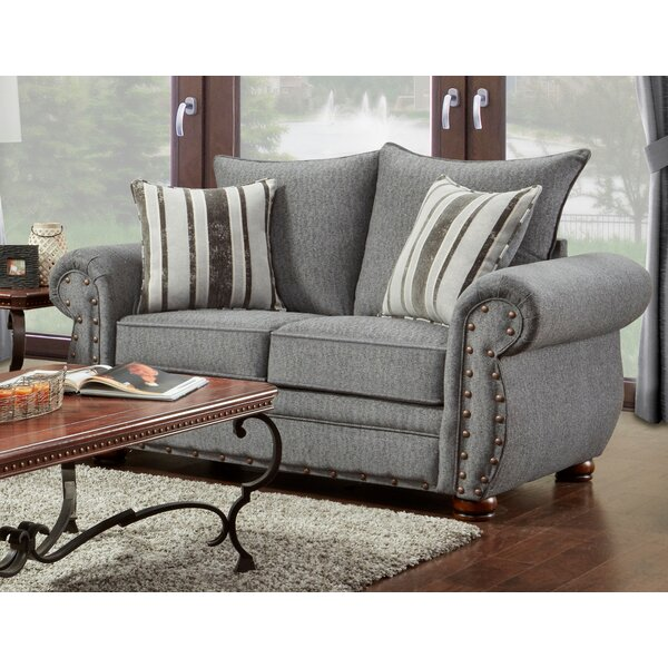 Last Trendy Conradine Platinum Stripe Loveseat by Darby Home Co by Darby Home Co