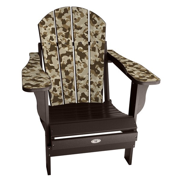 Kerber Camo Plastic Folding Adirondack Chair by Latitude Run