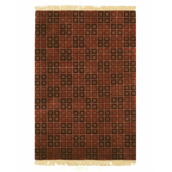 Nepalese Hand-Knotted Red Area Rug by Eastern Rugs