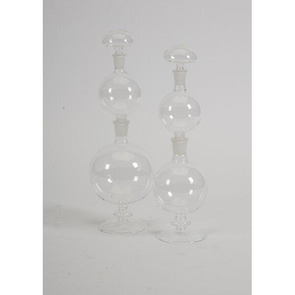 Florentin 2 Piece Decorative Bottle Set by Highland Dunes