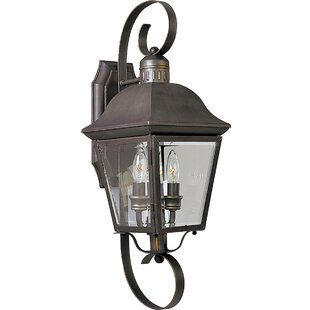 Reviews Triplehorn 2-Light Outdoor Nickel Wall Lantern By Alcott Hill