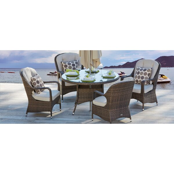 Batson 5 Piece Dining Set with Cushion by Moda Furnishings