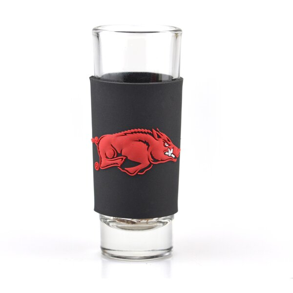NCAA Wrap Collector 2 oz. Plastic and Glass Shot Glass by JW International Imports LTD