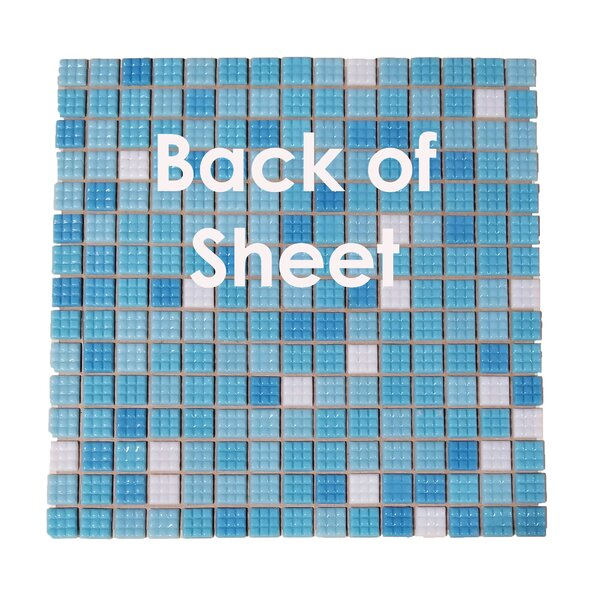 Swimming Pool 0.63 x 0.63 Glass Mosaic Tile in Eton Blue by Abolos