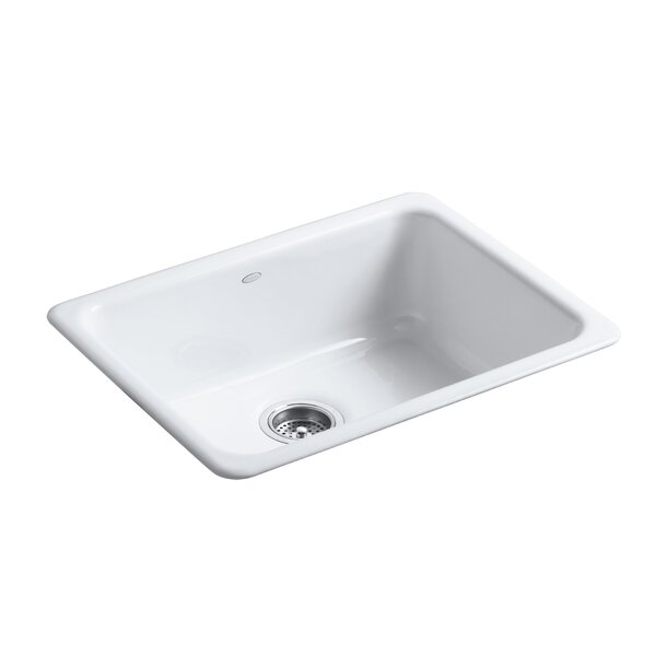 Iron Tones 24-1/4 L x 18-3/4 W x 8-1/4 Top-Mount/Under-Mount Single-Bowl Kitchen Sink by Kohler