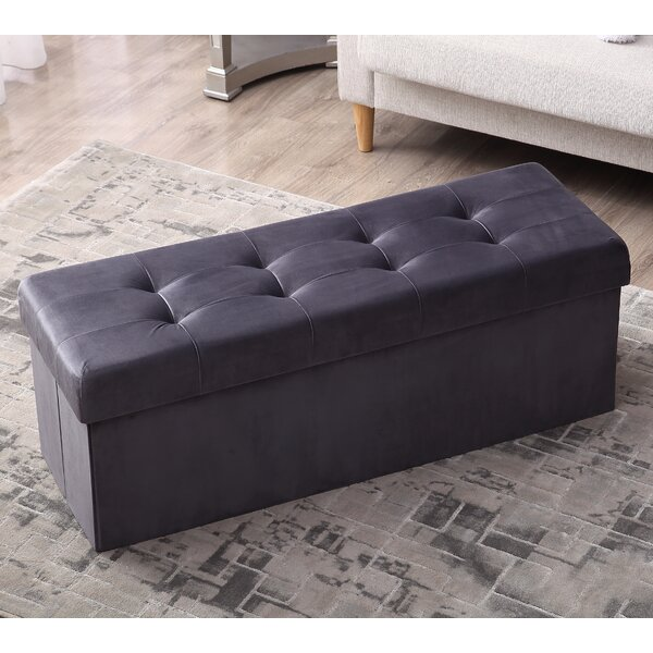 Mirabal Foldable Tufted Storage Ottoman by House of Hampton