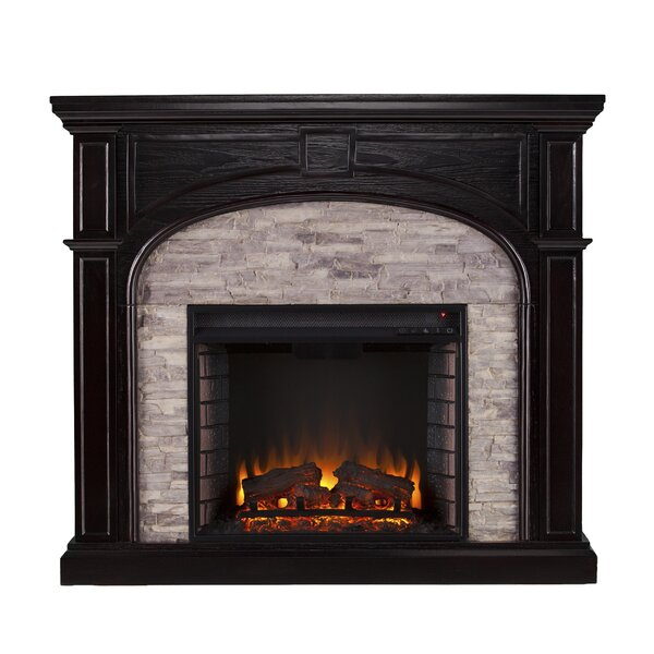 Shanley Traditional Electric Fireplace By Alcott Hill