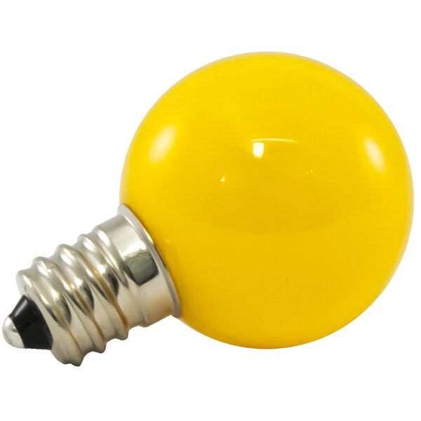 0.5W Yellow Frosted 120-Volt LED Light Bulb (Set of 25) by American Lighting LLC