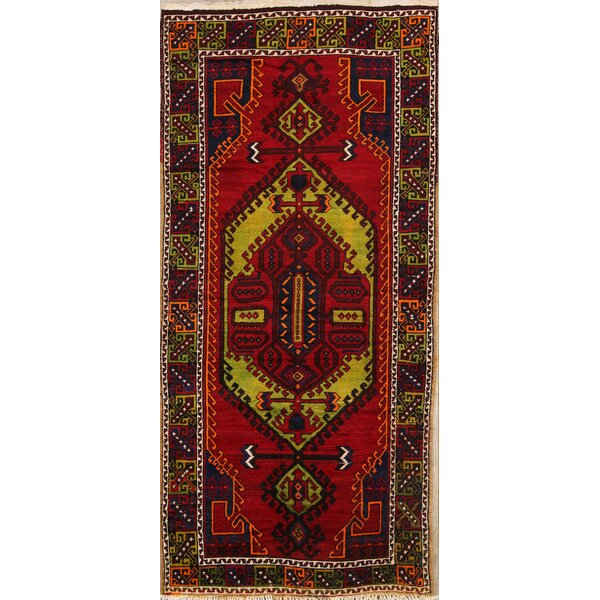 One-of-a-Kind Bovill Anatolian Turkish Oriental Hand-Knotted Wool Red/Burgundy Area Rug by Canora Grey