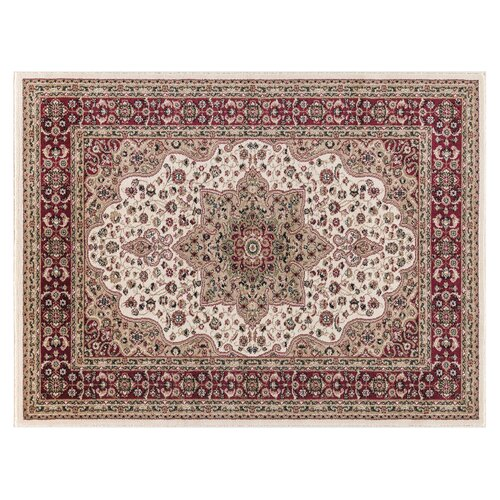 Craster Arms Cream/Red Rug Astoria Grand Rug Size: Runner 60