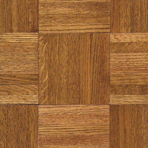 Urethane Parquet 12 Solid Oak Parquet Hardwood Flooring in High Glossy Honey by Armstrong Flooring