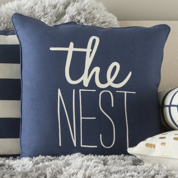 Carnell The Nest Cotton Throw Pillow Cover by Mercury Row