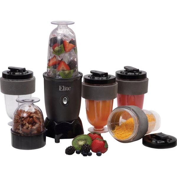 Cuisine 17 Piece Personal Drink Blender Set with Travel Cup by Elite by Maxi-Matic