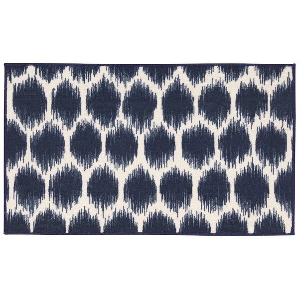 Fancy Free & Easy Seeing Spots Navy Area Rug by Waverly