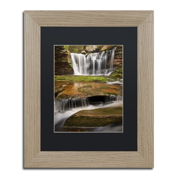 Three-Step Cascade by Michael Blanchette Framed Photographic Print by Trademark Fine Art