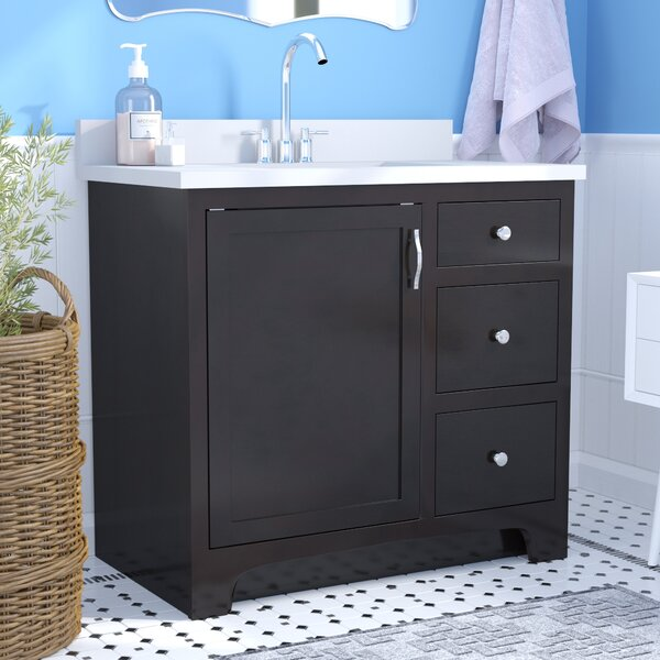 Steubenville 1-Door 37 Single Bathroom Vanity by Andover Mills