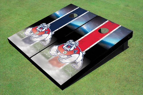 NCAA 10 Piece Field Long Strip Cornhole Board Set by All American Tailgate