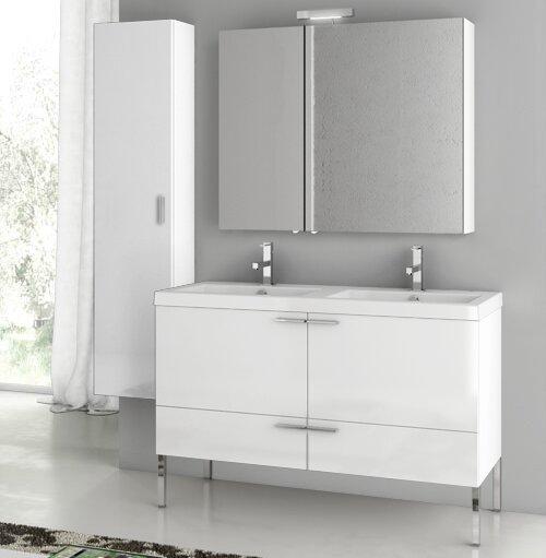 New Space 47 Bathroom Vanity Set with Mirror by ACF Bathroom Vanities
