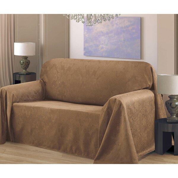 Medallion Box Cushion Armchair Slipcover by Bella Luna