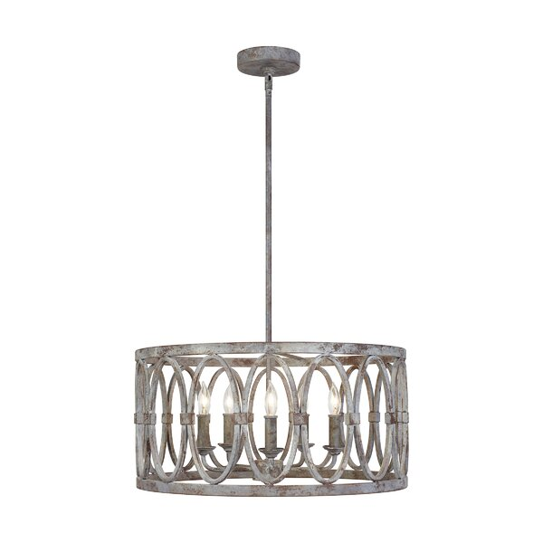 Cavana 5 - Light Candle Style Drum Chandelier by Ophelia & Co. Ophelia & Co.