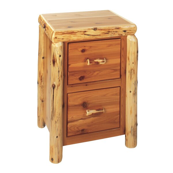 Traditional Cedar Log 2-Drawer File Cabinet by Fireside Lodge