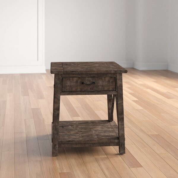 Royston End Table with Storage by Three Posts Three Posts
