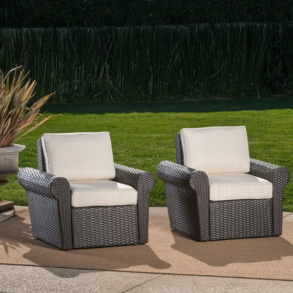 Singh Patio Chair with Cushions (Set of 2) by Darby Home Co