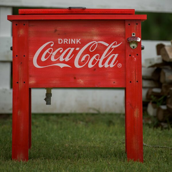 54 Qt. Coca-Cola Country Patio Cooler by Leigh Cou
