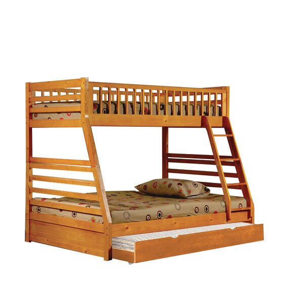 Selig Twin Over Full Standard Bunk Bed with Trundle by Harriet Bee