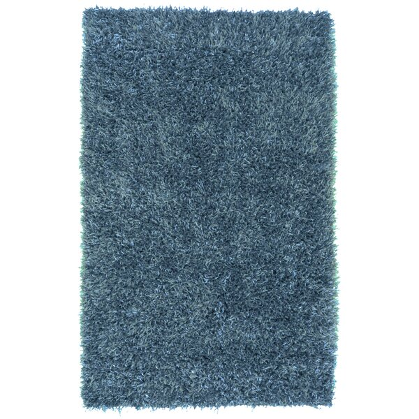 Dodge Hand Woven Blue Area Rug by Ivy Bronx