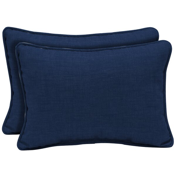 Kitts Tropical Reversible Outdoor Lumbar Pillow (Set of 2) by Bayou Breeze