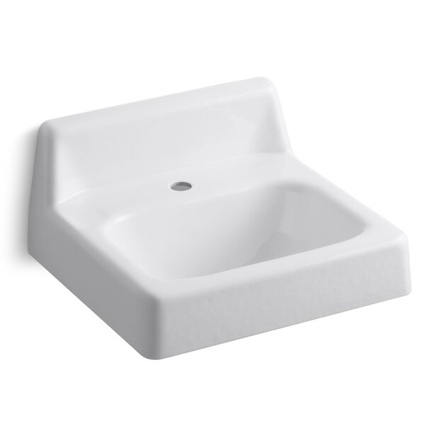 Hudson Metal 16 Wall Mount Bathroom Sink with Overflow by Kohler