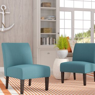 Review Veranda Slipper Chair (Set of 2) by Highland Dunes