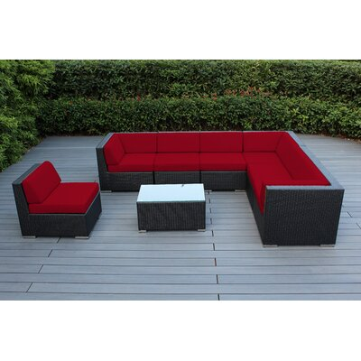 Wade Logan Sunbrella Sectional Set Sunbrella Cushions Frame Seating Groups