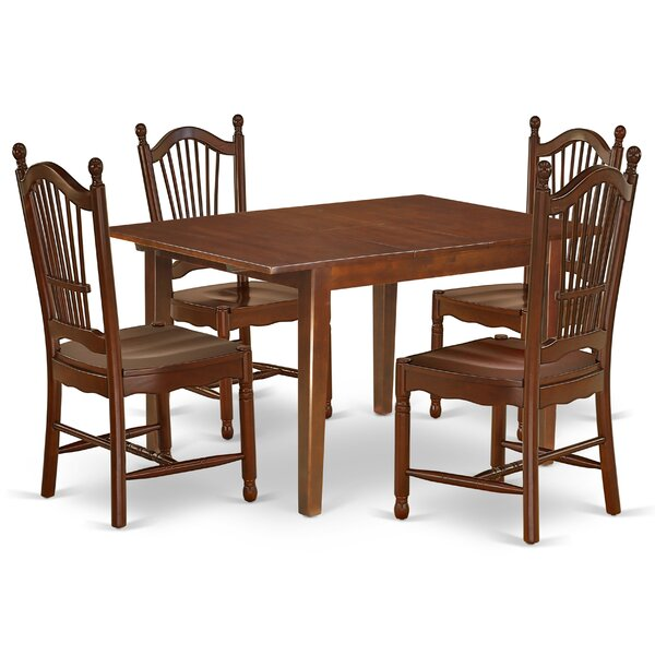 Lian 5 Piece Extendable Solid Wood Dining Set by Winston Porter Winston Porter