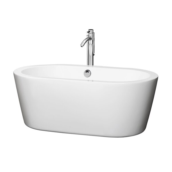 Mermaid 59.75 x 29.25 Soaking Bathtub by Wyndham Collection