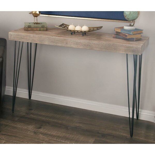 Vogelsang Metal/Wood Console Table by Union Rustic Union Rustic