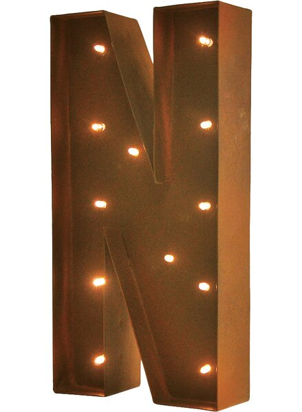 Rustic Vintage Letter LED Marquee Sign by Trent Au