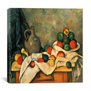 'Still Life, Drapery, Pitcher, and Fruit Bowl' by Paul Cezanne Graphic Art Print by East Urban Home