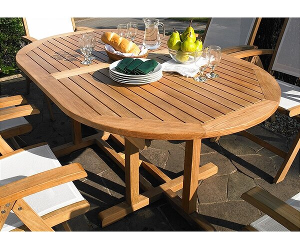 Camden Extendable Teak Dining Table by Three Birds Casual