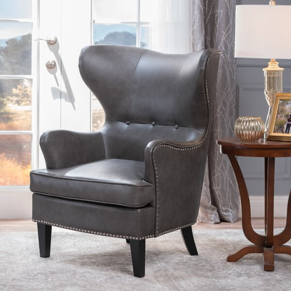 Kissell 20 in.  Wingback Chair by Red Barrel Studio Red Barrel Studio