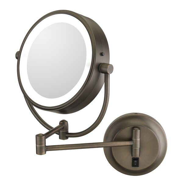Jignesh Modern LED Lighted Round Makeup/Shaving Mirror by Orren Ellis