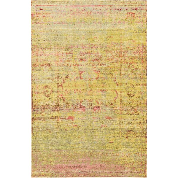 Danbury Yellow Area Rug by World Menagerie