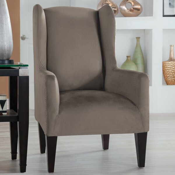 Tailor Fit Box Cushion Wingback Slipcover by Perfect Fit Industries