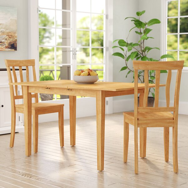 Antonio Extendable Solid Wood Dining Set By Andover Mills™