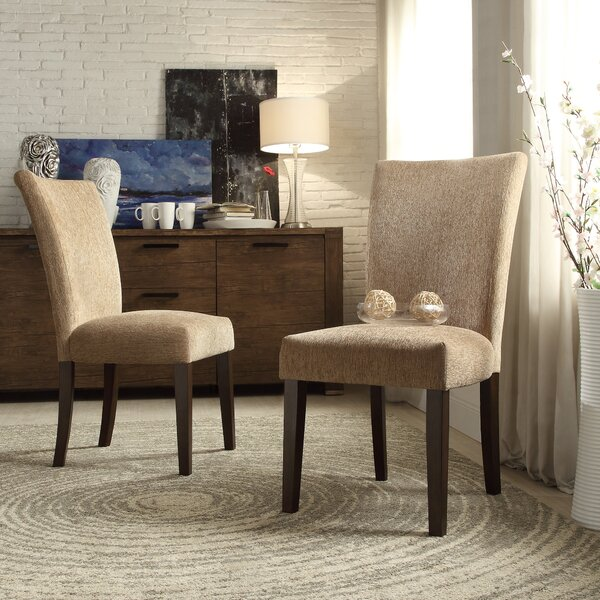 Doerr Chenille Parson Chair (Set of 2) by Charlton Home