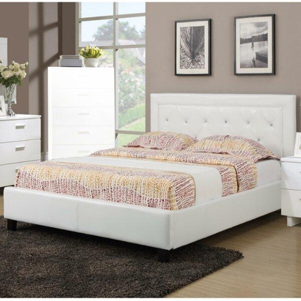 Elegant Upholstered Platform Bed by Benzara