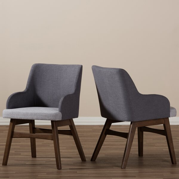 Baxton Studio Mona Mid-Century Modern Fabric Arm Chair (Set of 2) by Wholesale Interiors