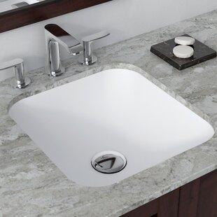 Comparison Natura™ Square Undermount Bathroom Sink By Kraus