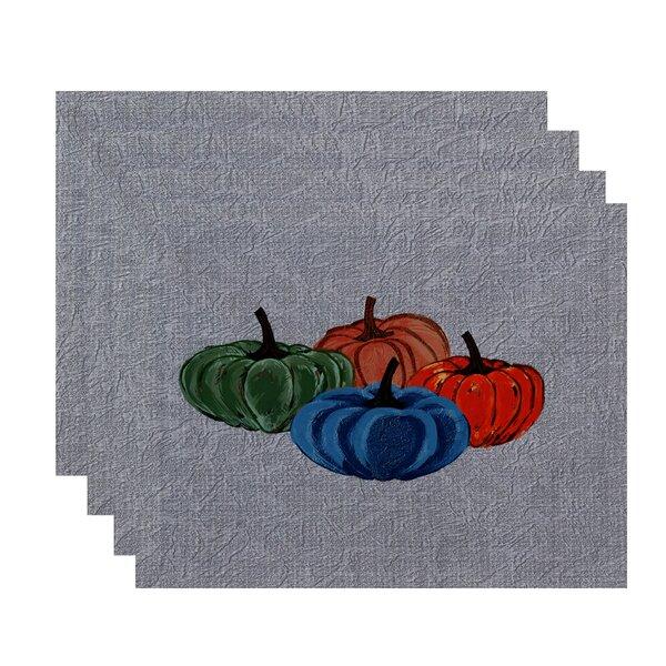 Miller Hand Towel Paper Mache Pumpkins Geometric Print Placemat (Set of 4) by Alcott Hill